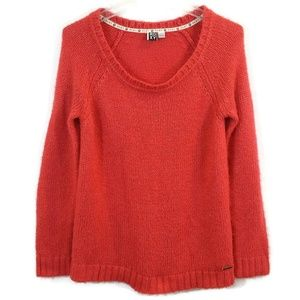 Roxy L Red Long Sleeve Knit Pull Over Sweater